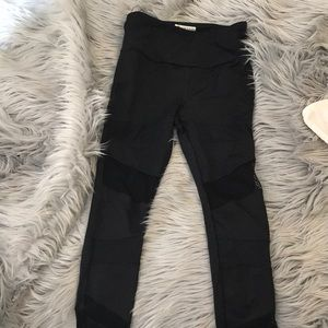 Forever 21 mesh cropped leggings